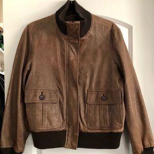 GAP genuine leather bomber